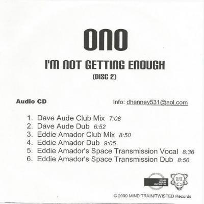 I'm Not Getting Enough (Disc 2) - Yoko Ono : les secrets de l'album (paroles, tablature)