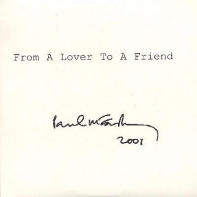 From A Lover To A Friend - Paul McCartney : les secrets de l'album (paroles, tablature)