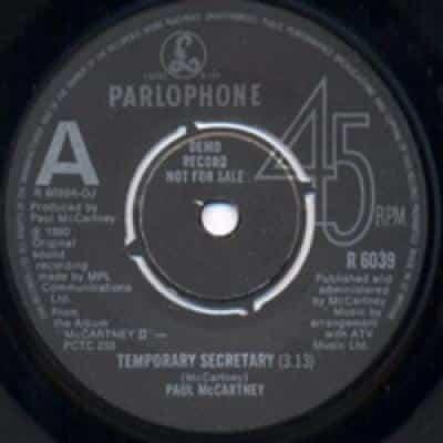 Temporary Secretary - Paul McCartney : les secrets de l'album (paroles, tablature)