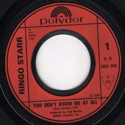 You Don't Know Me At All - Ringo Starr : les secrets de l'album (paroles, tablature)