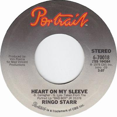 Heart On My Sleeve - Ringo Starr : les secrets de l'album (paroles, tablature)