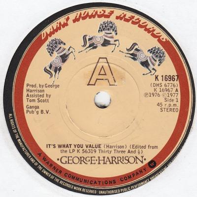 It's What You Value - George Harrison : les secrets de l'album (paroles, tablature)
