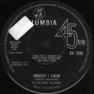 Peter and Gordon - « Nobody I Know »  - The Beatles : les secrets de l'album (paroles, tablature)