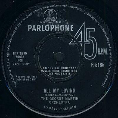 The George Martin Orchestra - « All My Loving »  - The Beatles : les secrets de l'album (paroles, tablature)