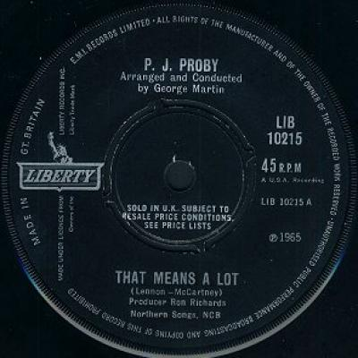 P.J. Proby - « That Means A Lot »  - The Beatles : les secrets de l'album (paroles, tablature)