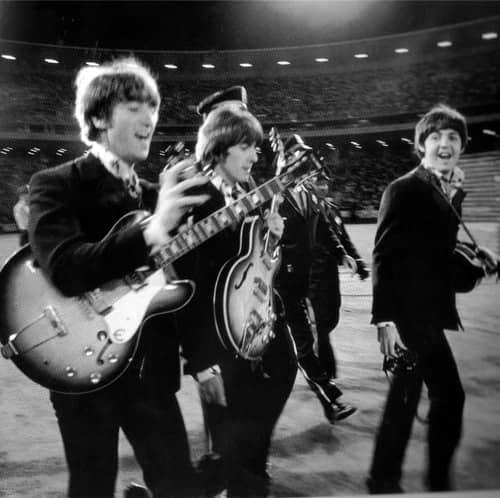 Les Beatles avant de donner leur dernier concert
