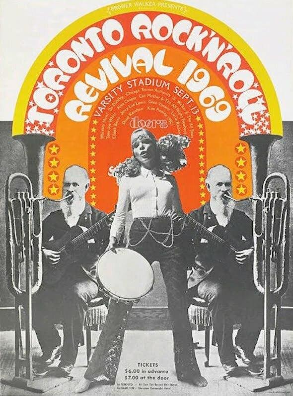 Affiche pour le festival de Rock de Toronto de 1969
